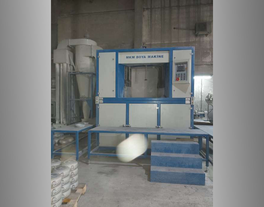 Automatic sandblasting machines